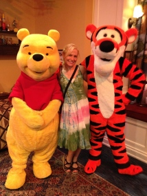 Jen with Pooh and Tigger!