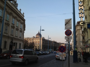 Top of Mariahilfestrasse - approaching the Museums Quartier