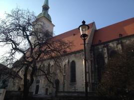 Beautiful church in old town Bratislava