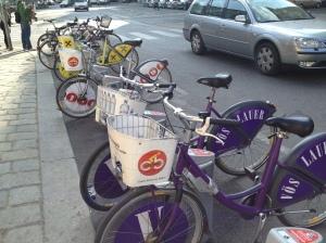 City Bikes along the street