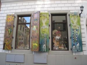 Bratislava - loved these whimsical shutters