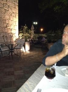 Lower terrace at Restaurant Kaštel