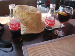 Enjoying our glass bottle Cokes!