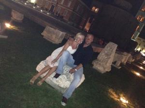 Posing on the Roman ruins