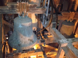 The bell inside the tower...