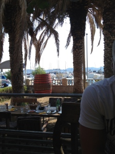 view of the marina from our table at Konoba Rafaelo
