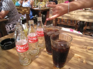 Our glass bottle Cokes