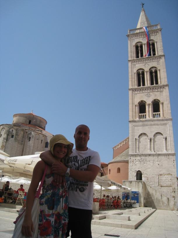 Inside the Old Town section of Zadar - Jen & Miloš