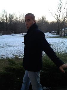 Miloš in the PA snow!