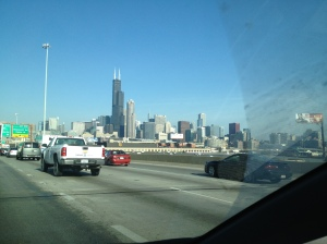 Arriving in Chicago!