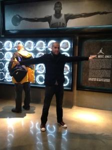 At the Michael Jordan store.