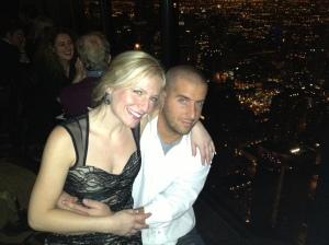 Jen & Miloš above Chicago
