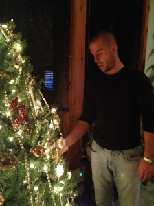 Decorating the tree...