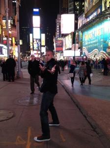 Miloš in Times Square