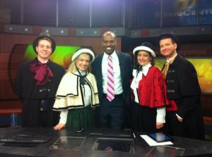 Olde Towne Carolers, after performing on WFMZ Channel 69.