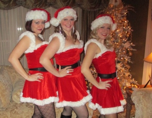 From my gig Saturday night: OTC's new act - Santa's Little Secret