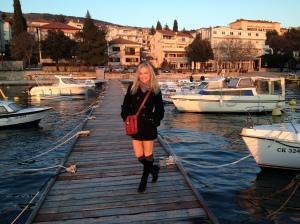 Jen posing on the dock