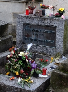 Jim Morrison at Pere Lachaise Cemetary