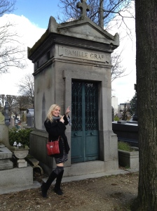 Pere Lachaise Cemetary - who knew we had family in France!