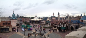 View of Fantasyland from the castle balcony
