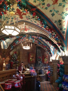 Christmas store inside the castle