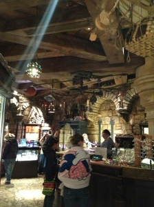 The other gift shop in the castle - reminds me of the old one in WDW's Cinderella Castle