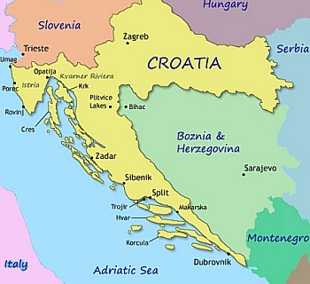 map of venice italy and surrounding areas with Where Is Croatia on Stuttgart City Center Map furthermore Large Detailed Map Of Belfast besides Nepal Political Map together with Edinburgh Area Map as well Where Is Croatia.
