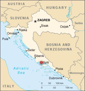 Major cities in Croatia