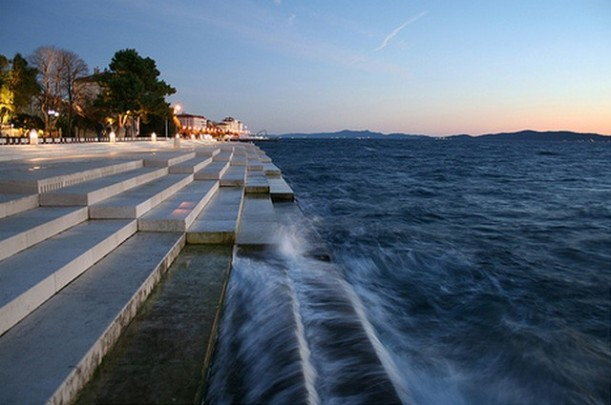The steps of the Sea Organ in Zadar