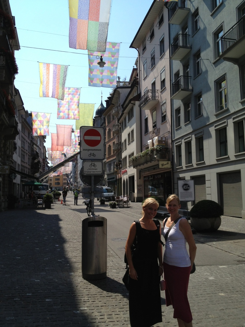 My sister and I in Zurich.