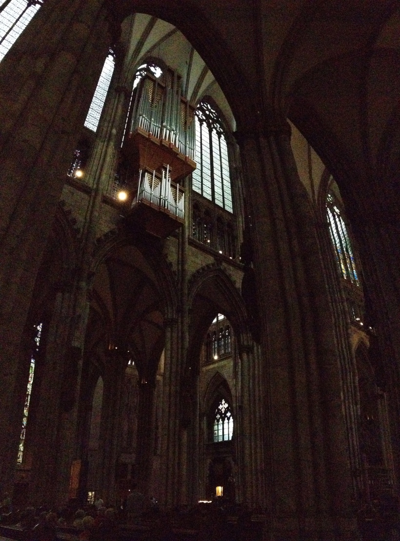 Exploring the inside of the cathedral