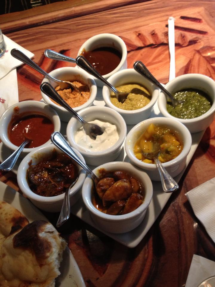 Delicious dips for our Naan bread