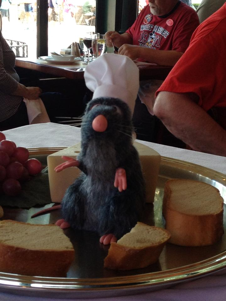 And it wouldn't be lunch at Chefs de France without a visit from Remy!