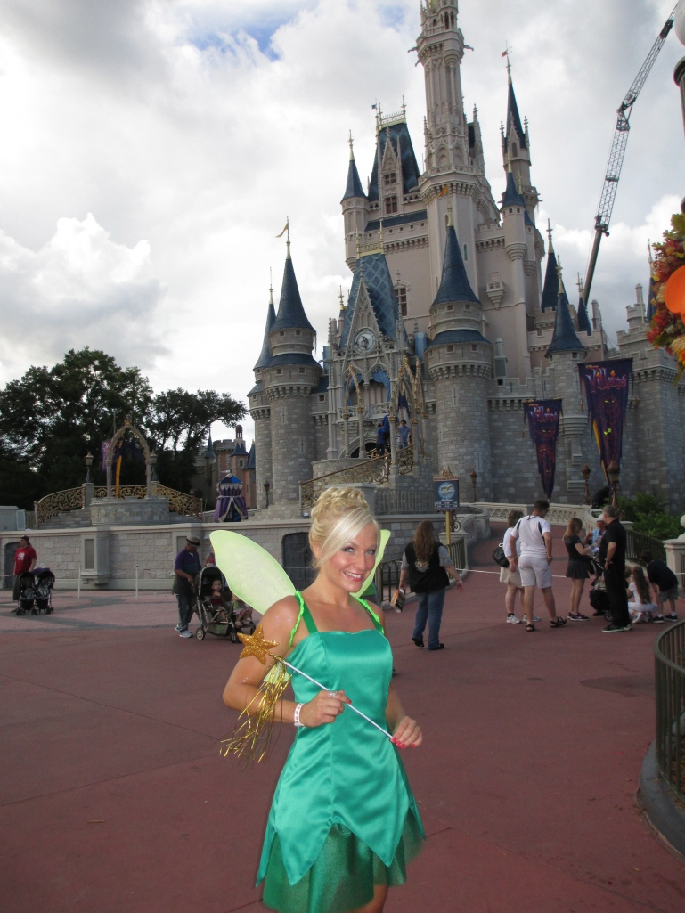 Me as Tinkerbell at Mickey's Not So Scary Halloween Party!