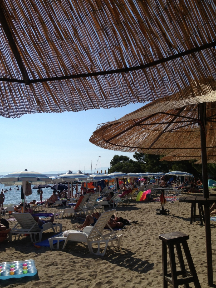 The sandy beach in Crikvenica