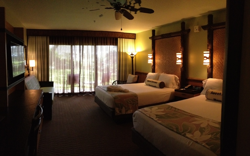 Panoramic view of our room...