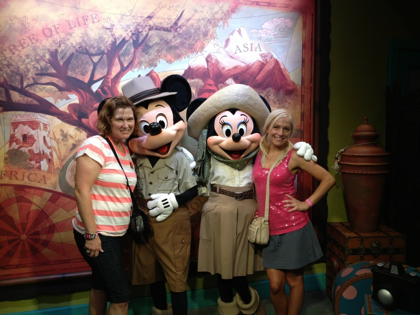 Both Jennifer's with Mickey and Minnie!