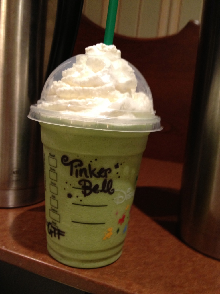 "My green tea frappucino mixed up just to ""match"" my costume"