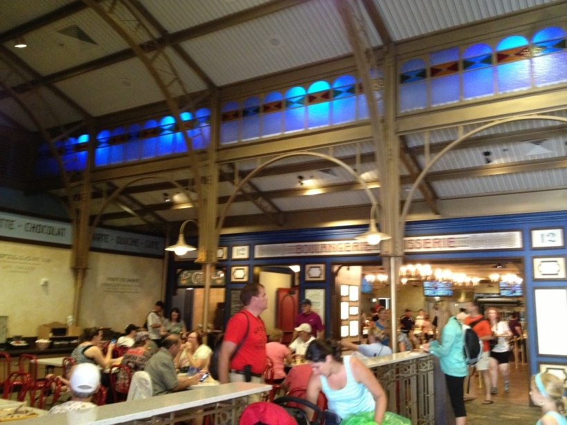 The expanded Counter Service restaurant in the France Pavilion