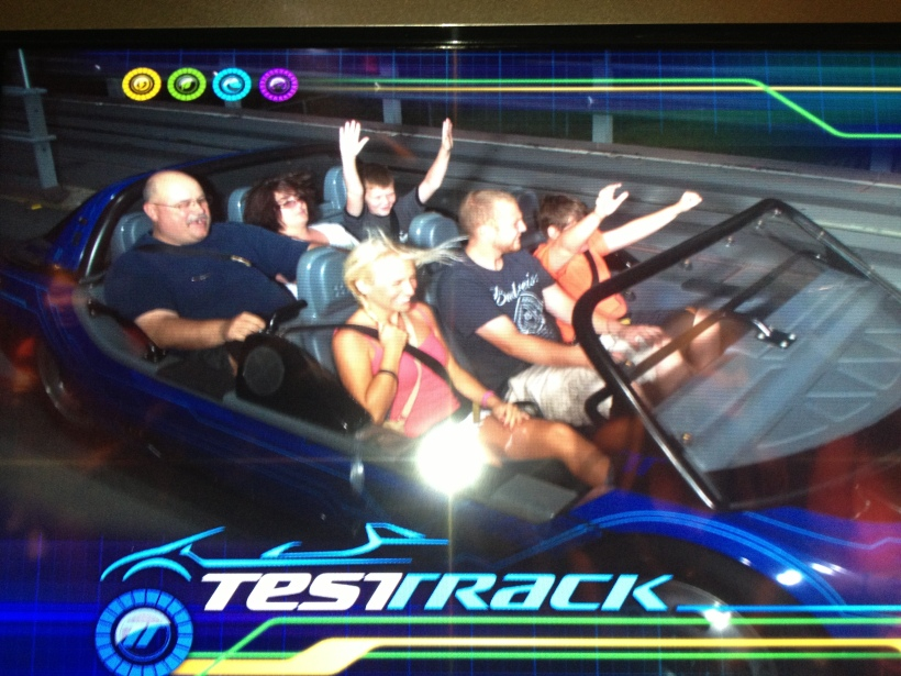Riding Test Track with a random family!