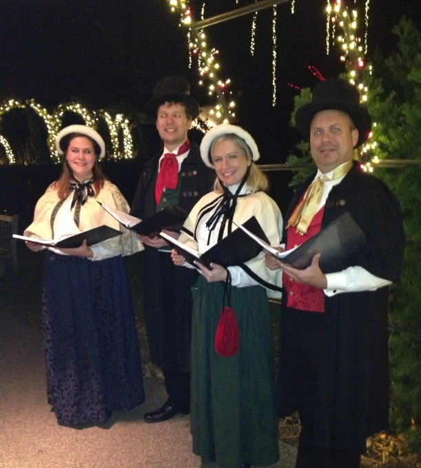 Olde Towne Carolers at Longwood Gardens, December, 2012.