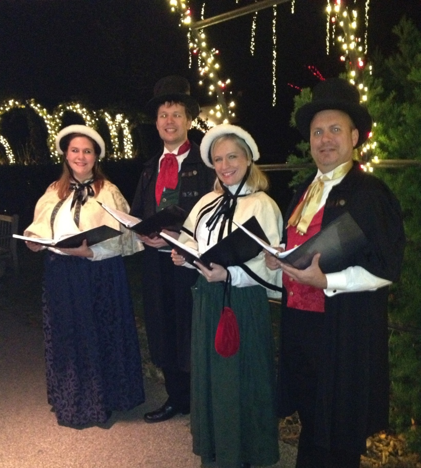 Olde Towne Carolers at Longwood Gardens, December, 2012.