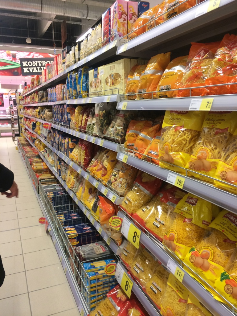 Pasta aisle - now here they have some selection