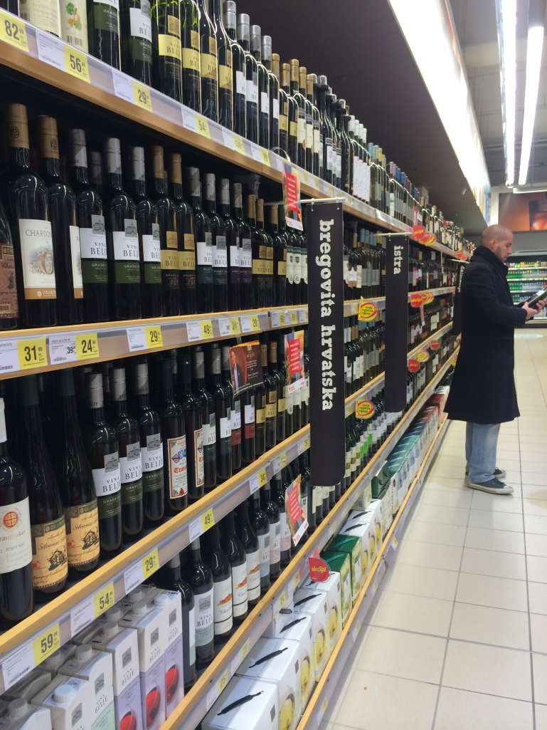 Here's something people in PA can be jealous of - wine in the grocery store!