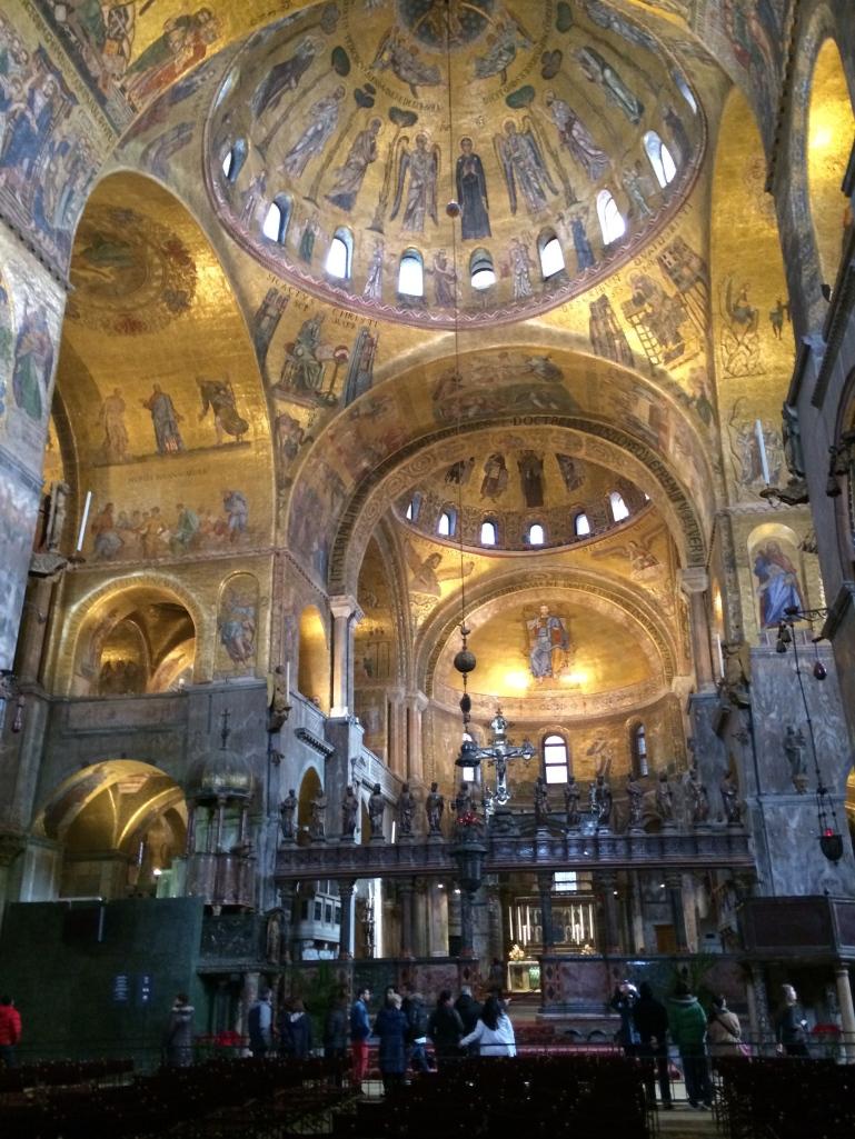 Inside the San Marco Basilica