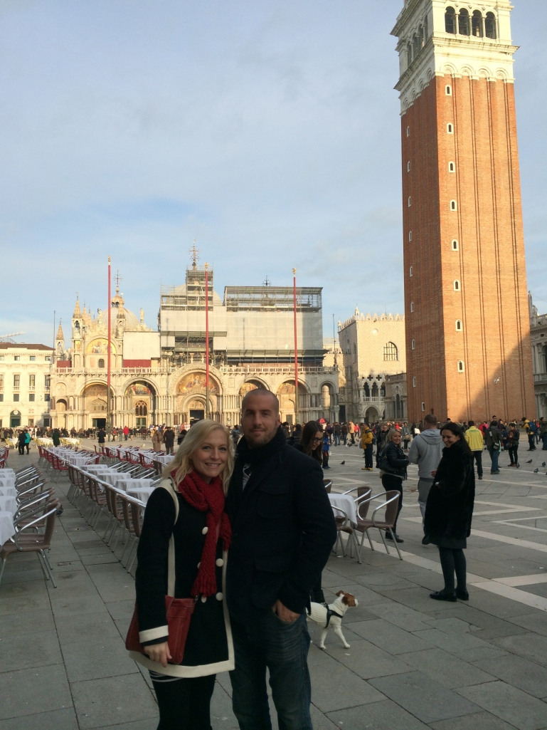 Jen and Miloš in San Marco Square, Venice