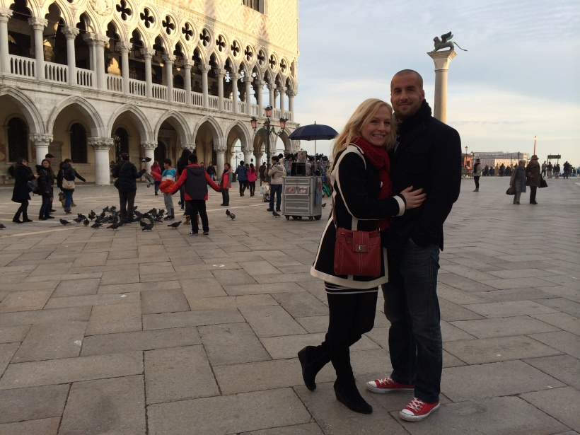 Jen and Miloš in San Marco Square