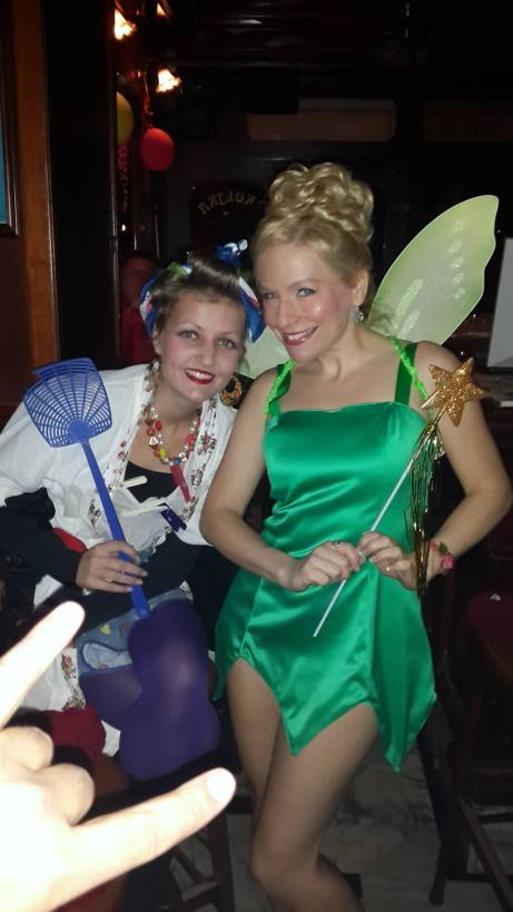 Me as Tinkerbell and Ornela as a Housekeeper