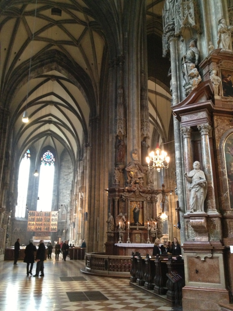 Inside Stephansdom (St. Stephen's Cathedral) -  Vienna, Austria