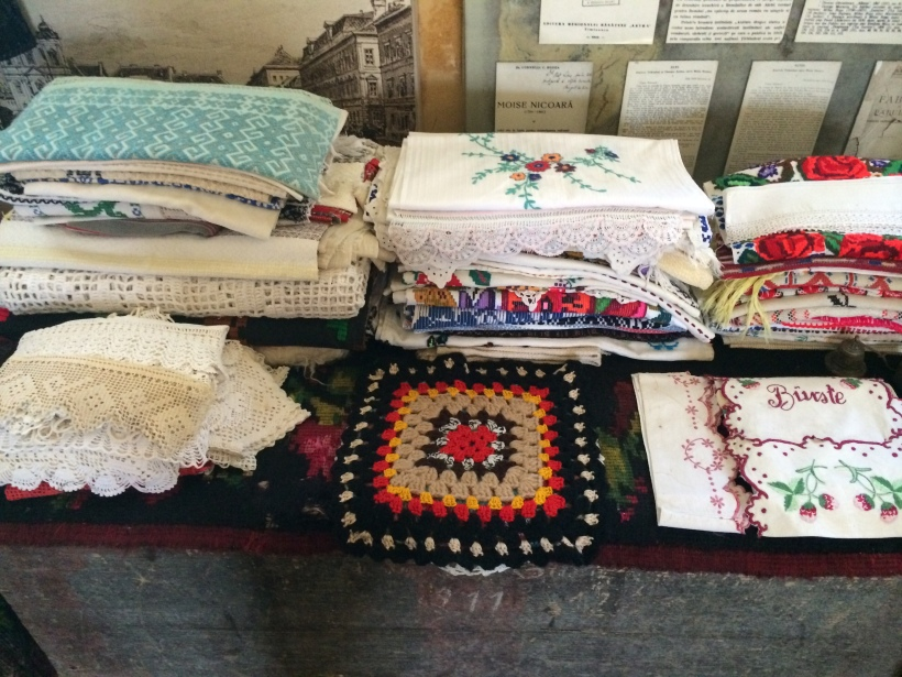 Textiles and sewn fabrics.  These look just like the ones my grandmother used to have!